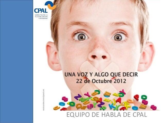 EQUIPO DE HABLA DE CPAL