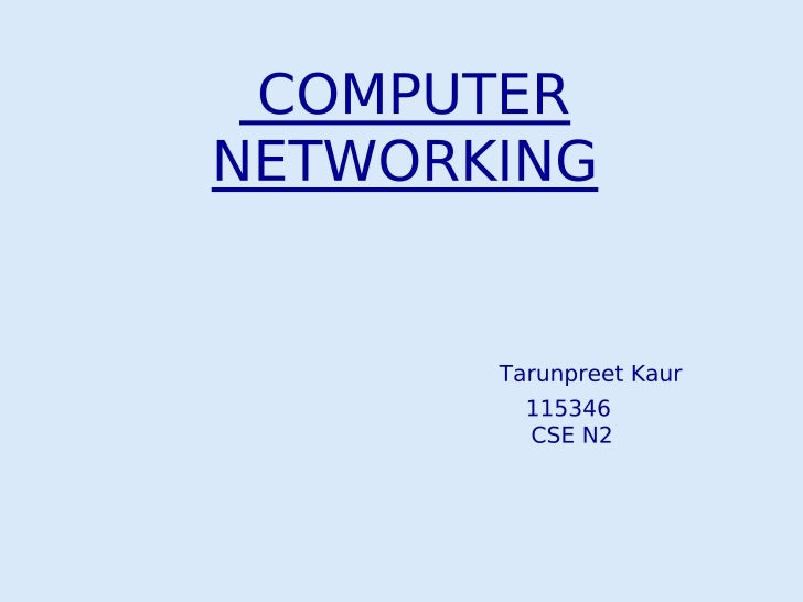 An interconnected       collection ofautonomous computers          is calledComputer Network. It means         twocomputer...