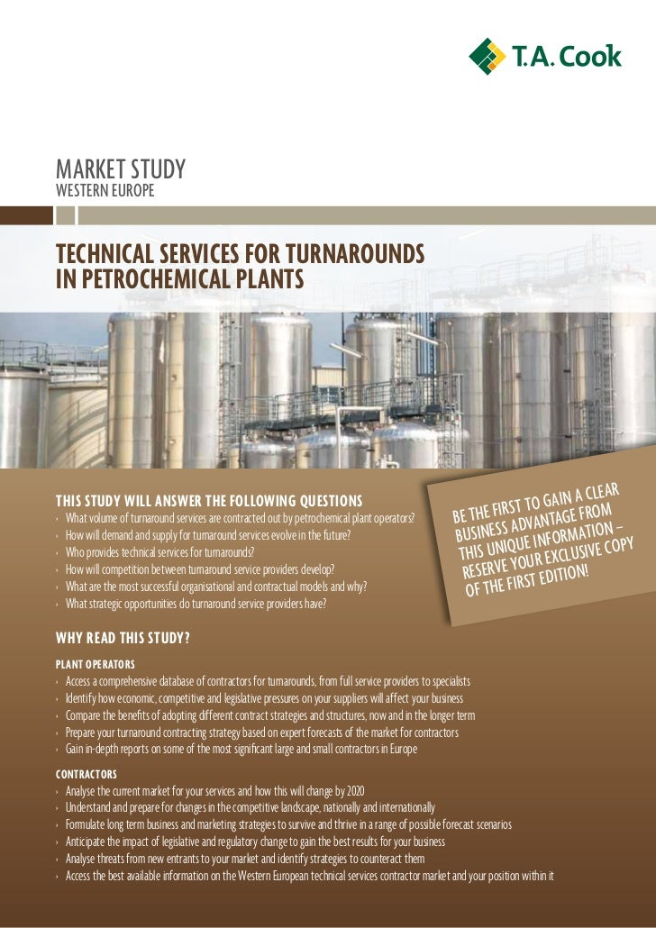 technical services for turnarounds in petrochemical plants in western europe