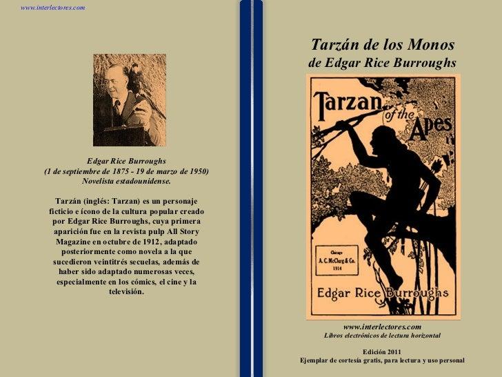 Tarzan de los monos de edgar rice burroughs