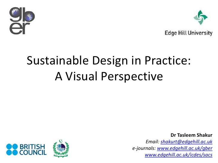 Sustainable Design in Practice: A Visual Perspective