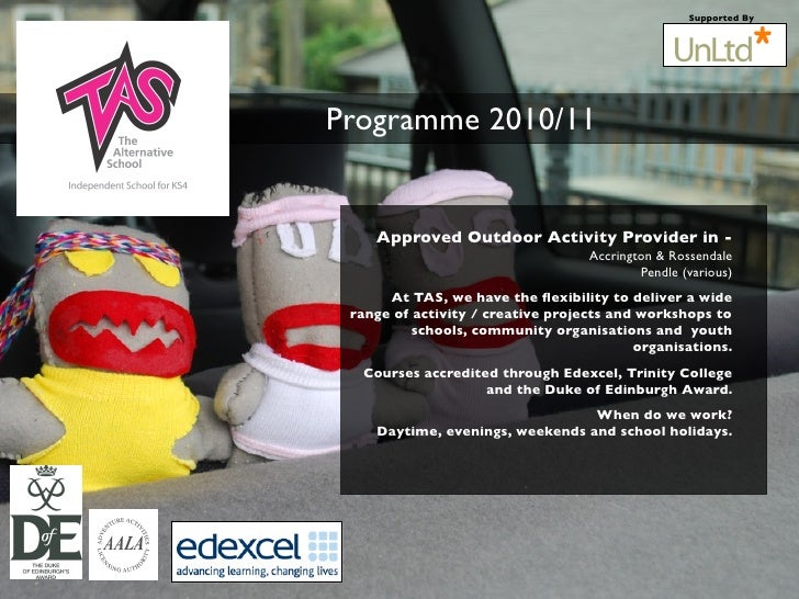 Supported By     Programme 2010/11       Approved Outdoor Activity Provider in -                                    Accrin...