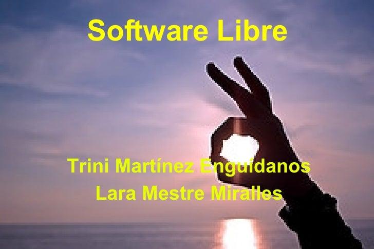 Software Libre Trini Martínez Enguídanos Lara Mestre Miralles