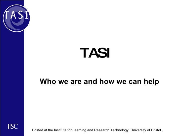TASI Who we are and how we can help