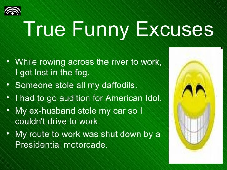 Best Excuses For Late Work