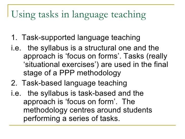 language for teachers task 4 focus Innovate, enrich and make foreign language teaching programmes more meaningful and task design & language learning and teaching 4 prompt negotiation of meaning (see next section) table 4 communication focus on tasks developed in tila language learning potential the language learning potential of.