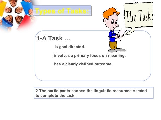 teaching oral communication skills a task based The five language skills in the efl classroom  and task-based instruction  when faced with the complex task of teaching the target language.
