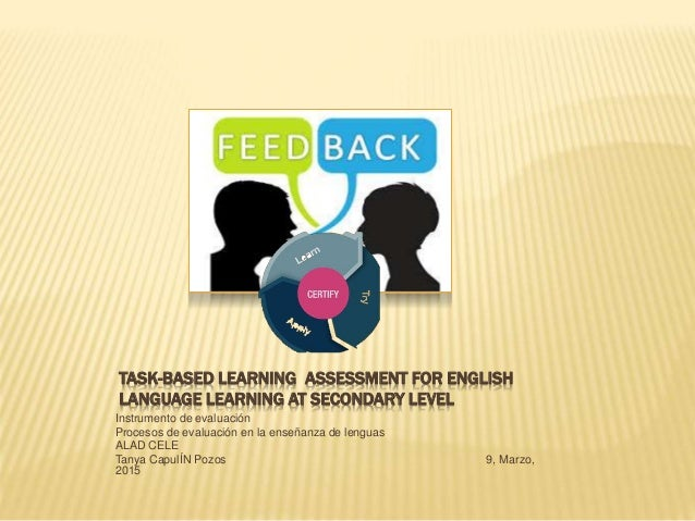 TASK-BASED LEARNING ASSESSMENT FOR ENGLISH LANGUAGE LEARNING AT SECONDARY LEVEL Instrumento de evaluación Procesos de eval...