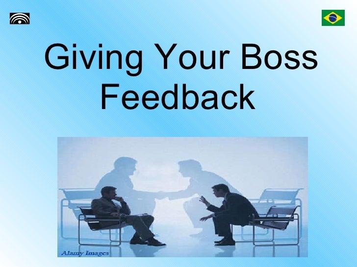 Giving Your Boss Feedback