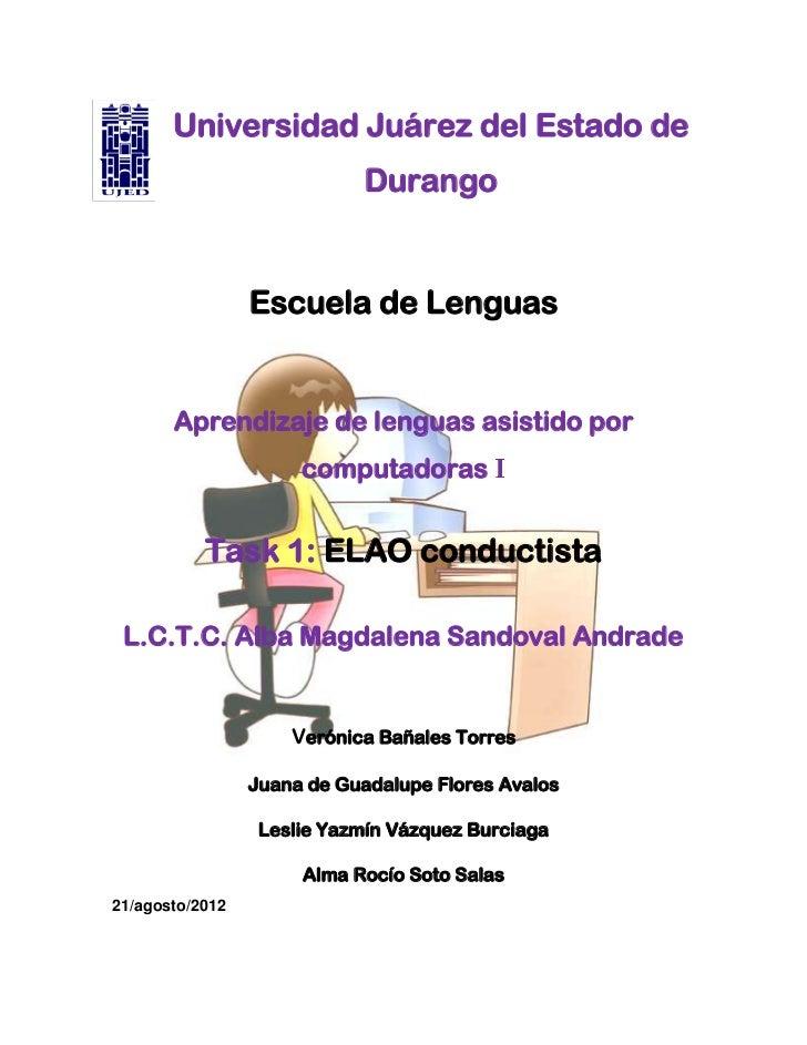 Universidad Juárez del Estado de                            Durango                 Escuela de Lenguas       Aprendizaje d...