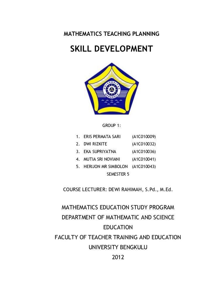 Task 1 PPM - Group 1 - Skill Development