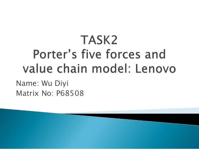 Porter's five forces and value chain model: Lenovo