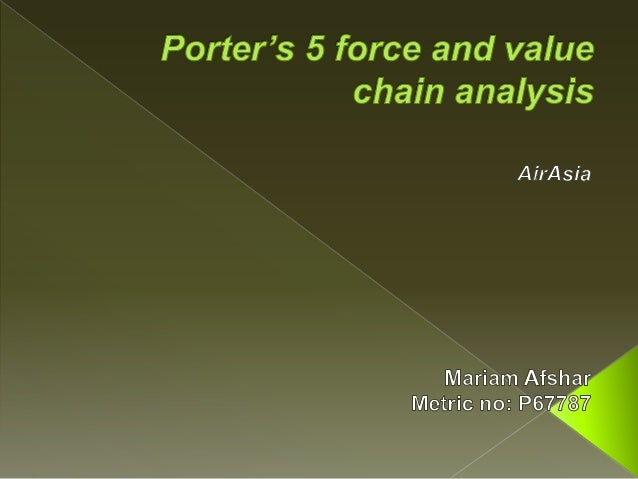 porter s 5 forces for air asia Five porter forces of singapore this essay five porter forces of singapore and other 63,000+ term papers, college essay examples and free essays are available now on reviewessayscom autor: vincentgaudio • december 1, 2012 • essay • 537 words (3 pages) • 920 views.