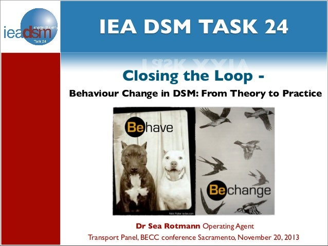 social media XXIV and Subtasks of Task IEA DSM TASK 24 Task XXIV Closing the Loop Behaviour Change in DSM: From Theory to ...
