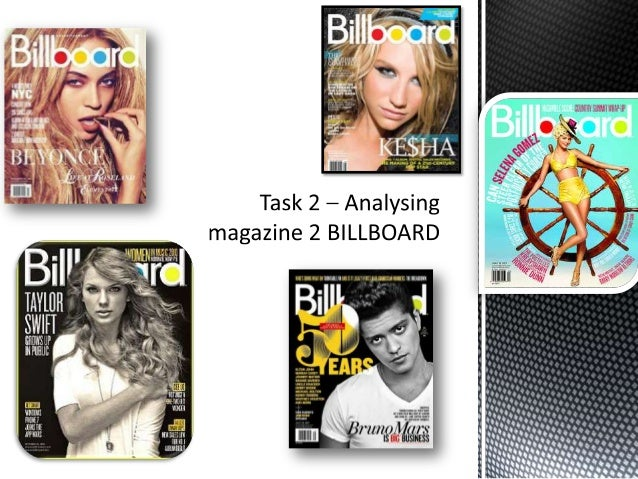Task 2 – analysing magazine 2 billboard