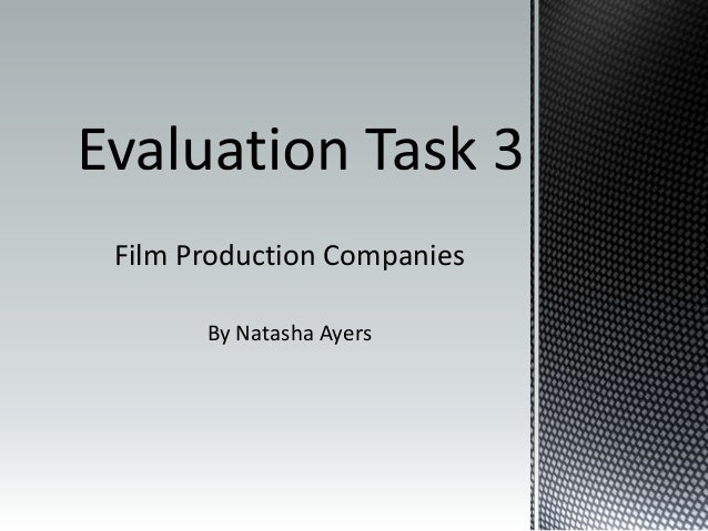 Film Production Companies By Natasha Ayers