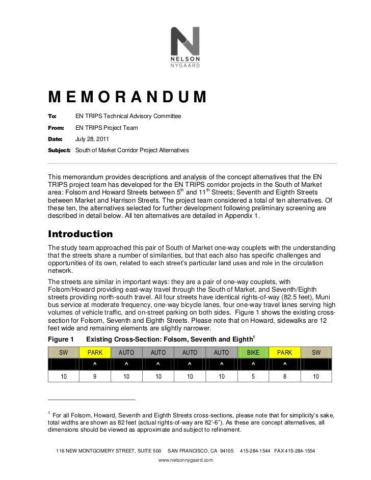 MEMORANDUMTo:        EN TRIPS Technical Advisory CommitteeFrom:      EN TRIPS Project TeamDate:      July 28, 2011Subject:...