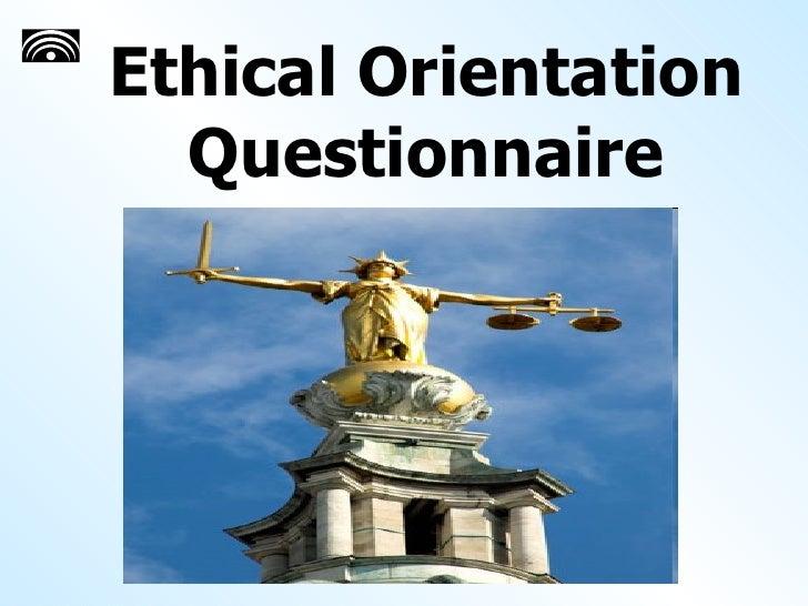 Ethical Orientation Questionnaire