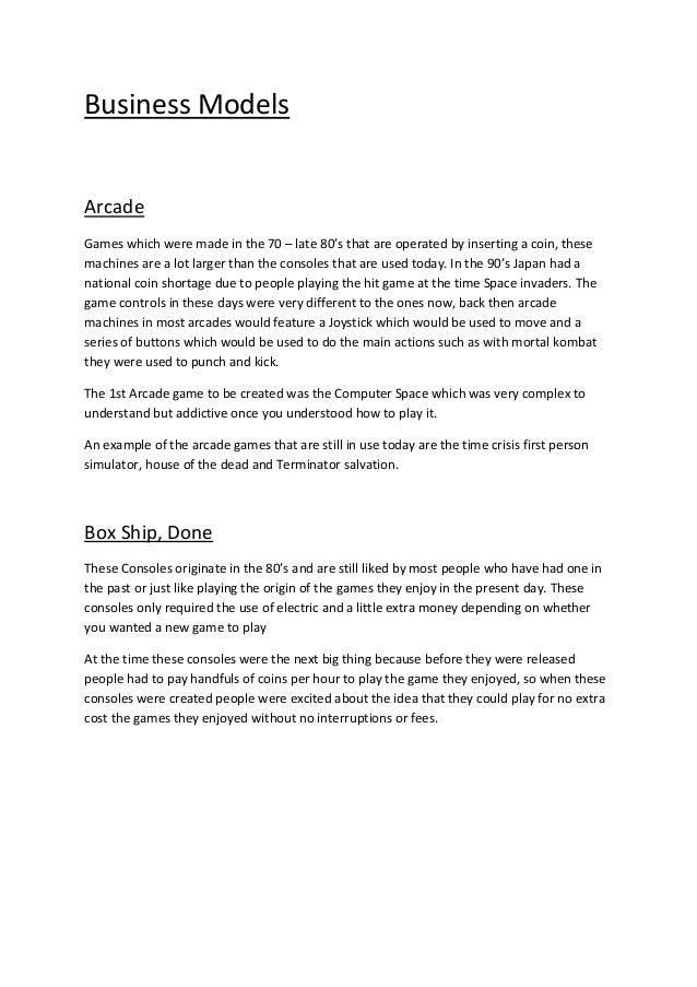 Task 4   business models