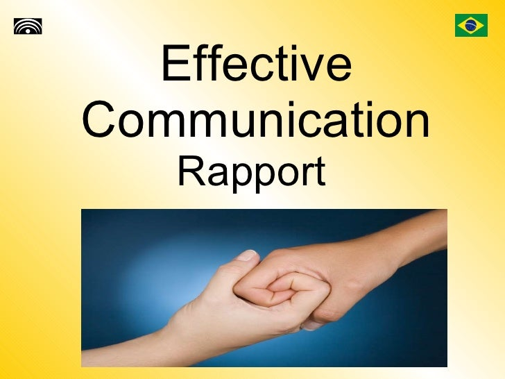 Effective Communication Rapport