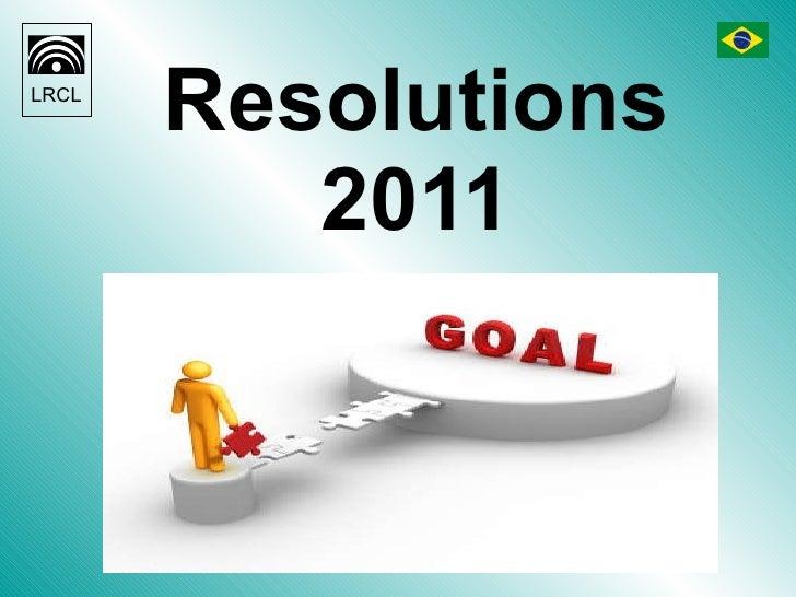 Resolutions 2011