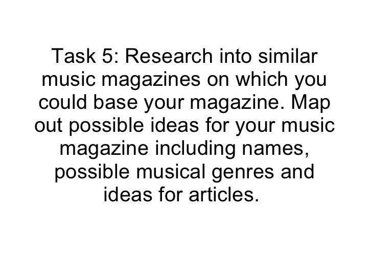 Task 5 Ideas