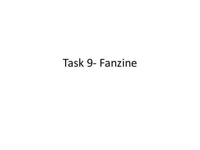 Task 9- Fanzine