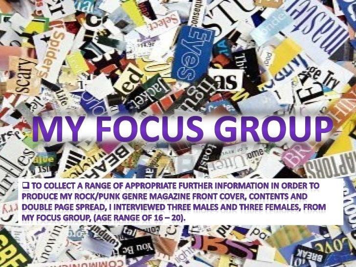 Task 9 - My Focus Group