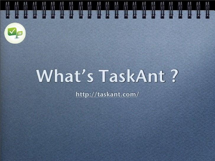 What's TaskAnt?