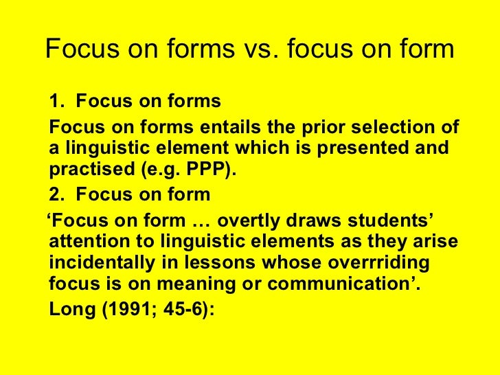 Lesson 10 : Form Focused Instruction - Lessons - Tes Teach