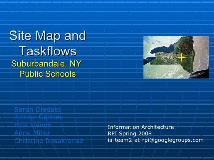 Sarah Diodato Jenese Gaston Paul Llanos Anne Miller Christine Rosakranse Site Map and Taskflows Suburbandale, NY  Public S...