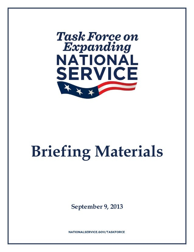 Briefing Materials September 9, 2013