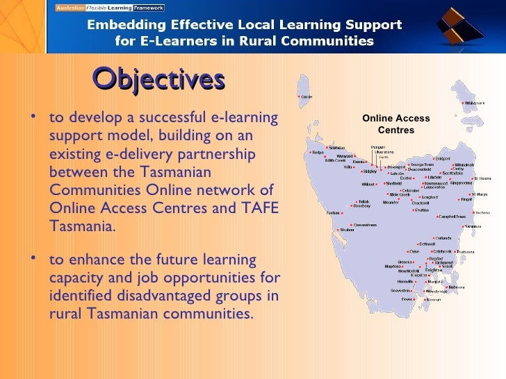 Objectives <ul><li>to develop a successful e-learning support model, building on an existing e-delivery partnership betwee...