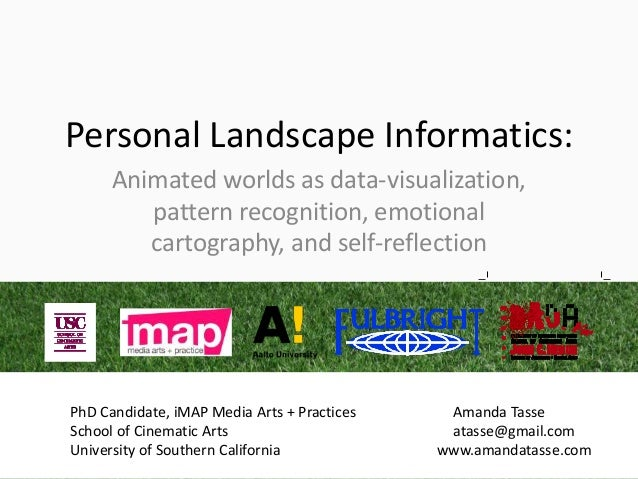 Personal Landscape Informatics:      Animated worlds as data-visualization,         pattern recognition, emotional        ...