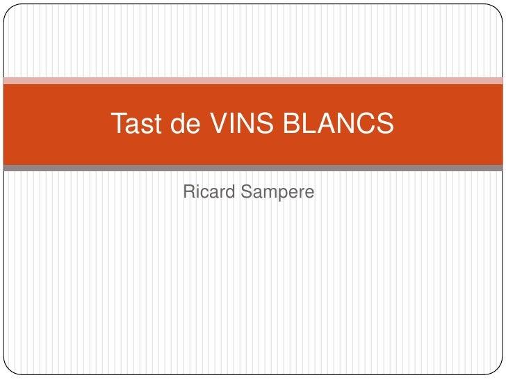 Ricard Sampere<br />Tast de VINS BLANCS<br />