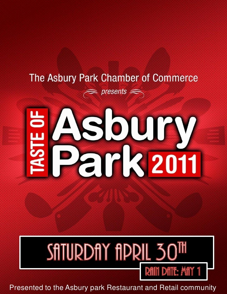 Presented to the Asbury park Restaurant and Retail community