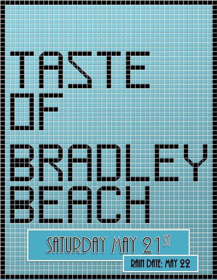 Taste of bradley beach food and craft vendor applications