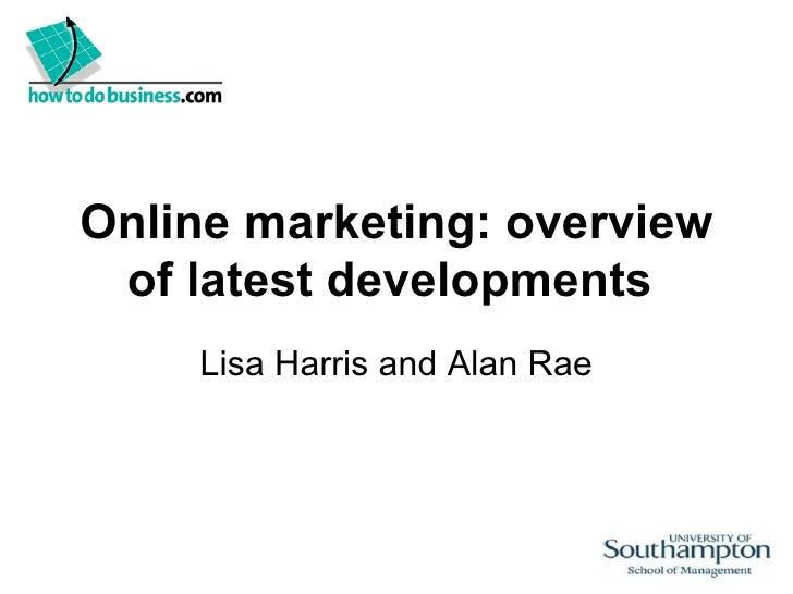 Latest developments in online marketing