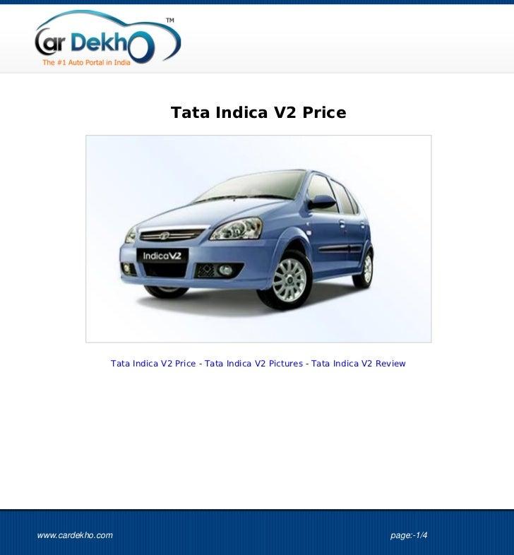 Tata Indica V2 Price 01Sep2012