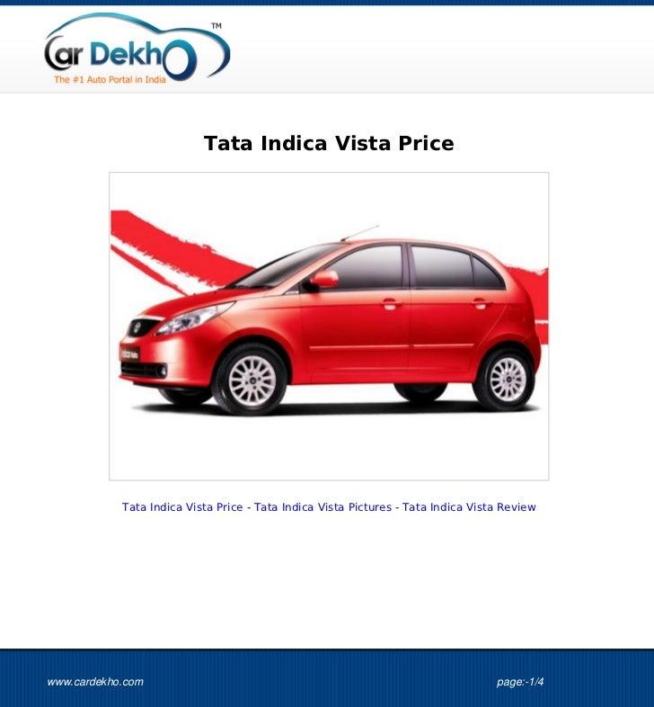 Tata Indica Vista Price 25Aug2012