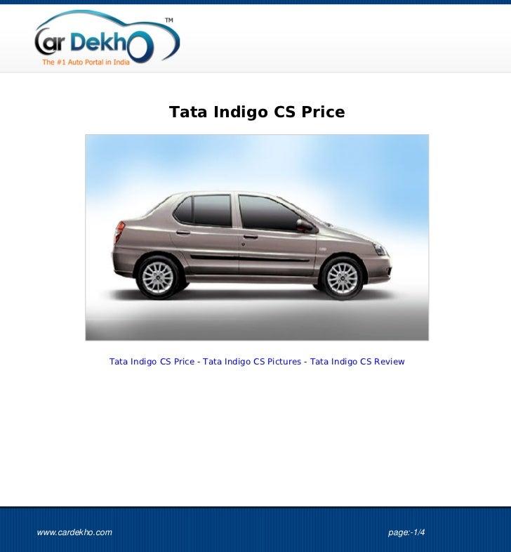 Tata Indigo CS Price 17Aug2012