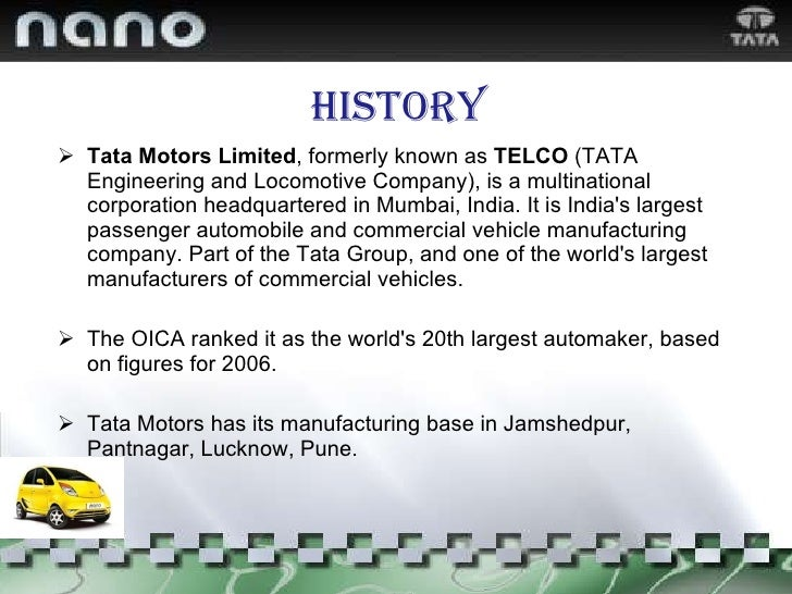 Tata Nano Case Study Essay Sample