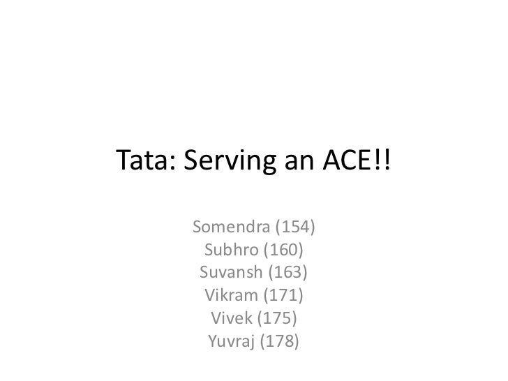 Tata: Serving an ACE!!      Somendra (154)       Subhro (160)       Suvansh (163)        Vikram (171)         Vivek (175) ...
