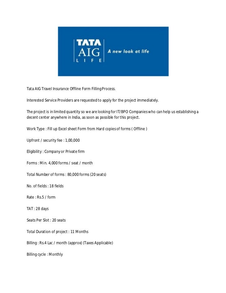 tata aig microinsurance project This paper provides a broad overview of how the microinsurance program at tata-aig emerged and how it operates including a look at the company's distribution, community outreach this paper was commissioned by the good and bad practices in microinsurance project.