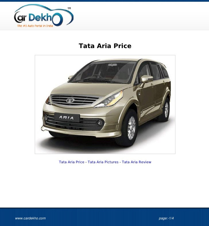 Tata+Aria+Price+26May2012