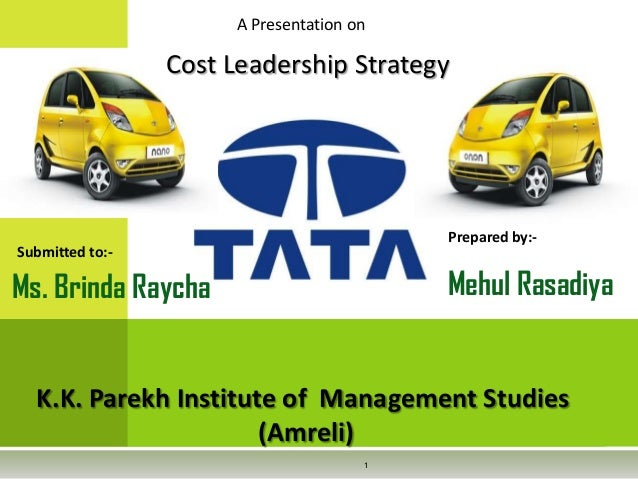 A Presentation on Prepared by:- Mehul Rasadiya Submitted to:- K.K. Parekh Institute of Management Studies (Amreli) 1 Cost ...