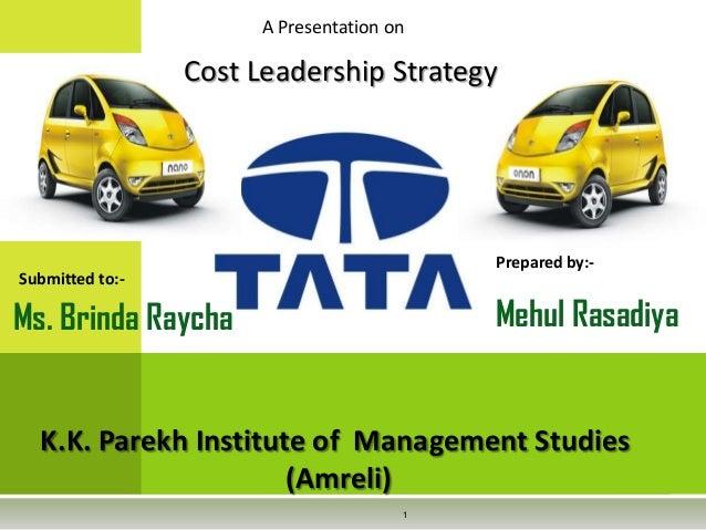 Tata cost leadership