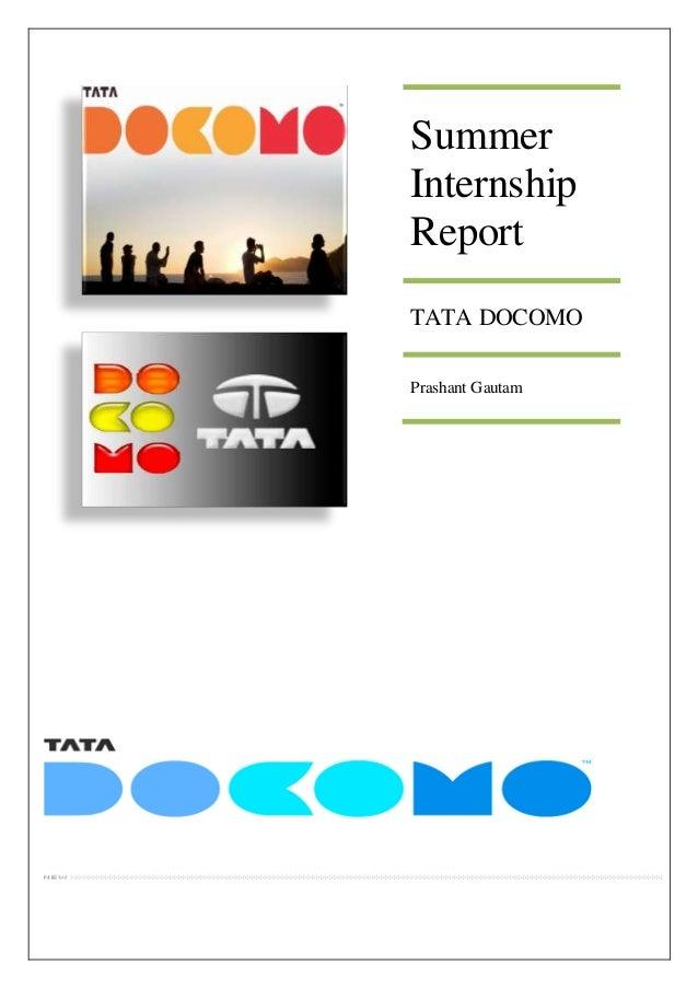 Summer Internship Report TATA DOCOMO Prashant Gautam
