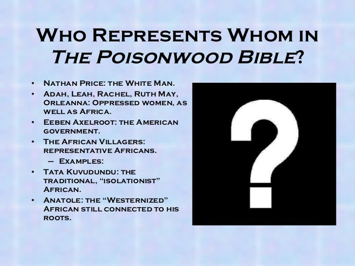 poisonwood bible leah price character analysis Sid rai english 11 haske character analysis in 'the poisonwood bible'  character: - leah history: - one of two twins o leah's twin sister, adah, is  handicapped.