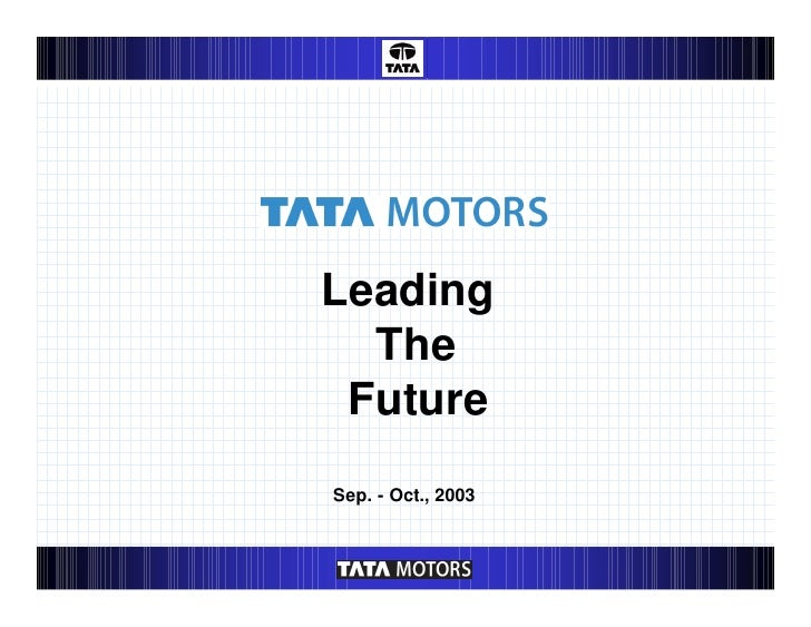 Leading  The FutureSep. - Oct., 2003